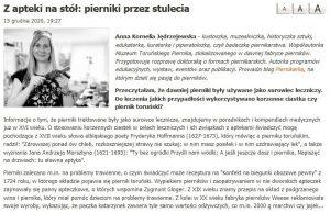 zdjęcie aKJędrzejewskiej z formą oraz tekst artykułu